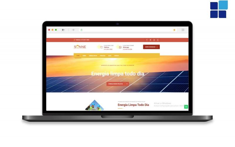 Novo site da Sonne Solução em Energia no ar!